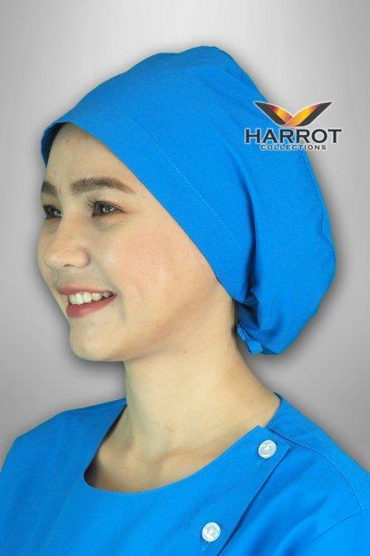 หมวกคลุมผม ห้องผ่าตัด สีฟ้าเข้ม