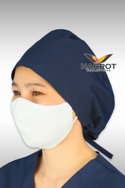 Dark blue surgical cap