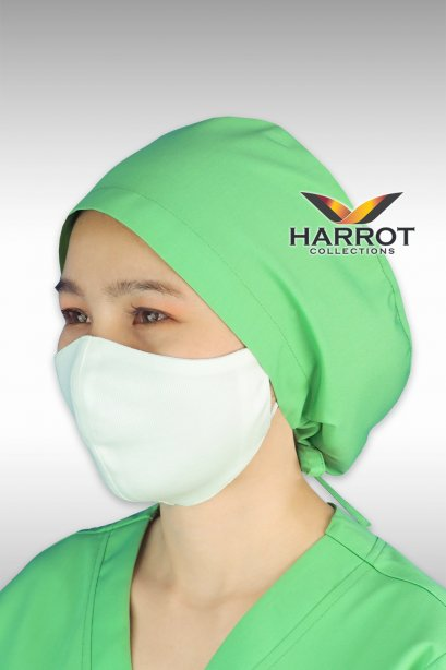 หมวกคลุมผม ห้องผ่าตัด สีเขียว