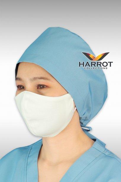 หมวกคลุมผม ห้องผ่าตัด สีฟ้า