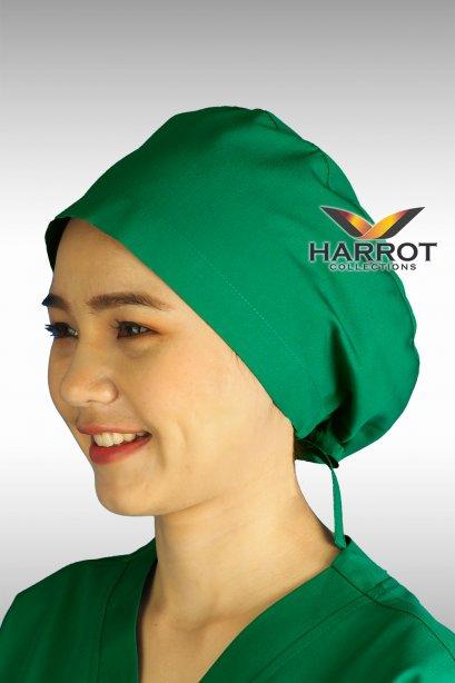 หมวกคลุมผม ห้องผ่าตัด สีเขียวเข้ม