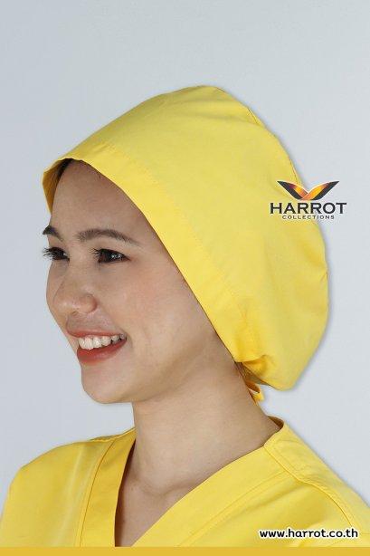 หมวกคลุมผม ห้องผ่าตัด สีเหลือง (HPC0106)
