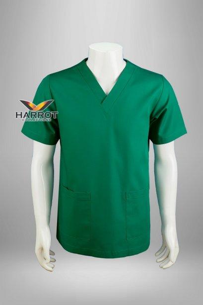 Green short sleeve  scrub shirt