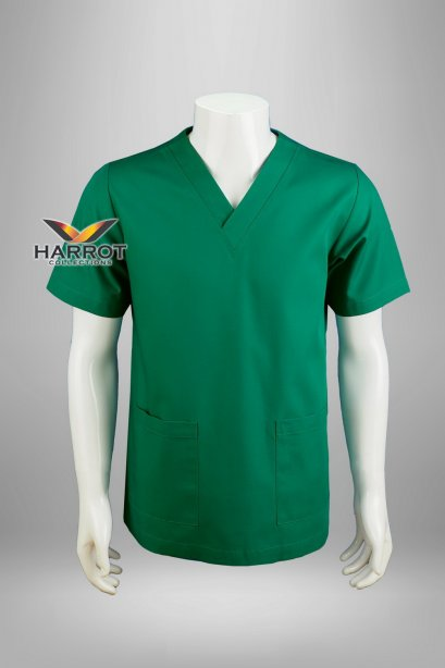 Green short sleeve  scrub shirt