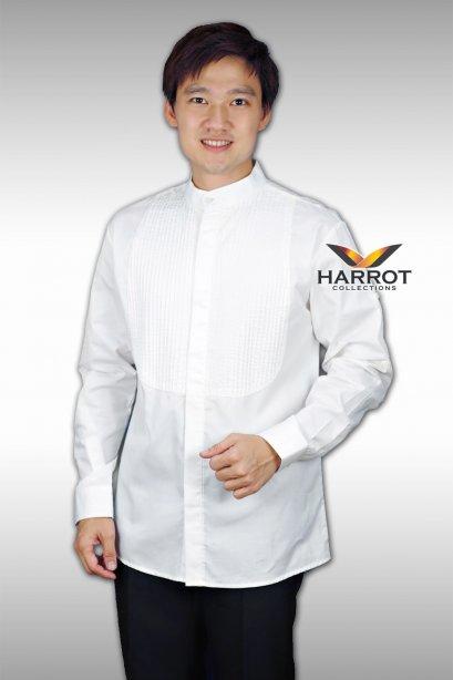 เสื้อพนักงานเสิร์ฟ แขนยาว สีขาว