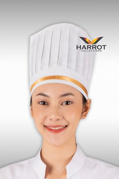 White Long Chef Hat 7.5 inches (FSC0331)