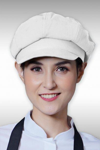 หมวกบัสเกอร์ สีขาว