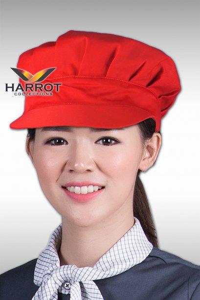 หมวกแก๊ป มีจีบ สีแดง