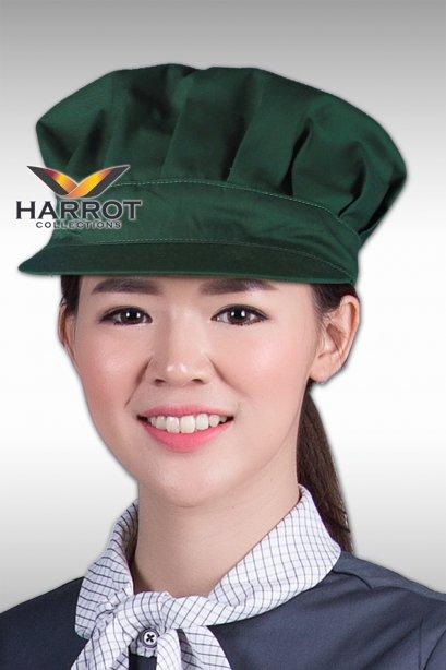 Green Pleated Baseball Hat