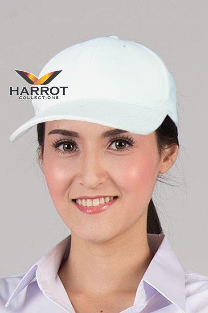 หมวกแก๊ป เบสบอล สีขาว
