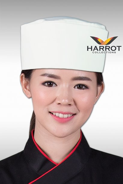 WHITE JAPANESE CHEF HAT