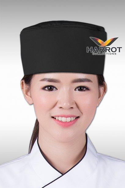 หมวกกุ๊กญี่ปุ่น สีดำ
