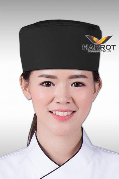 BLACK JAPANESE CHEF HAT