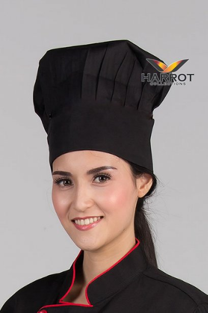 BLACK CHEF HAT