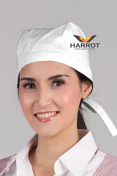 White Chef Head Wrap