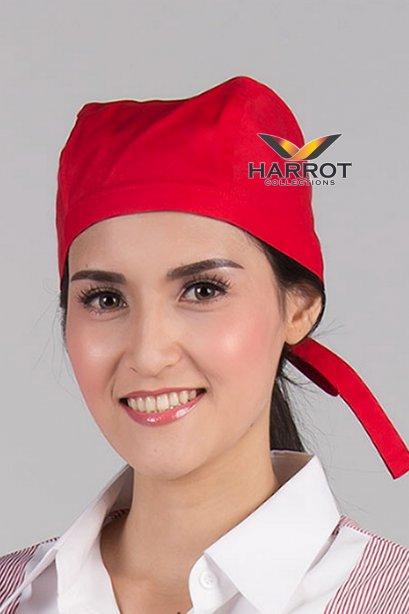 หมวกผูกเชือก สีแดง