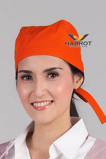 หมวกผูกเชือก สีส้ม