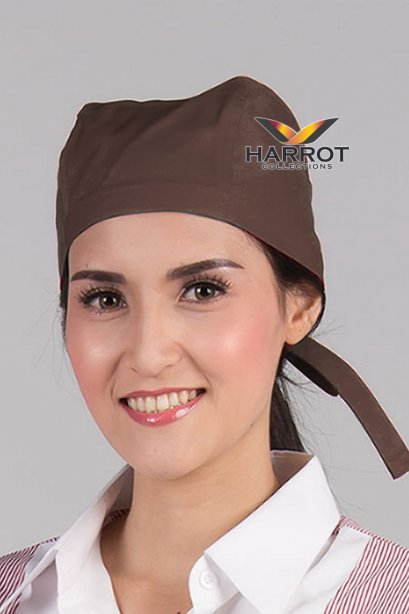 Brown Chef Head Wrap