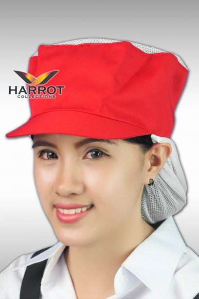 Red Cooking Hat with Net