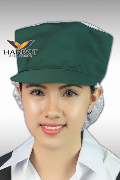 หมวกแก๊ป ตาข่ายบน-ล่าง สีเขียว