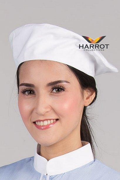 White Baret Hat