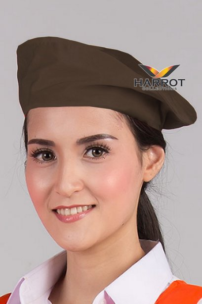 Brown Baret Hat