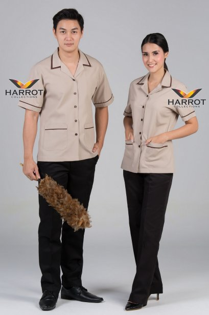 Brown-Beige Housekeeper Shirt