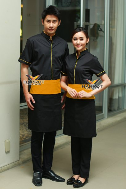 Yellow-Yellow Waiter & Waitress Shirt