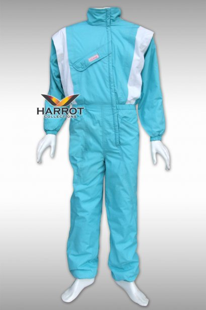 White-Blue Coverall