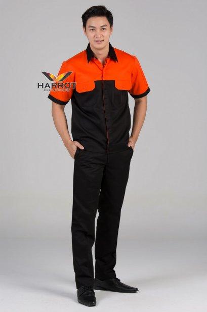 Orange-Black Shop Shirt