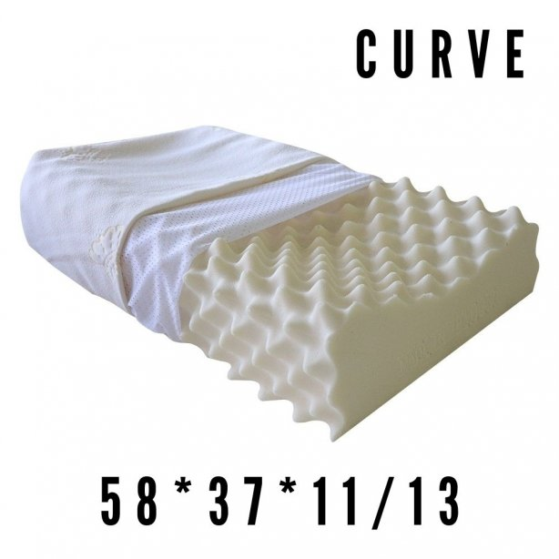 CURVE (รุ่น S09) หมอนยางพารา ทรง CURVE