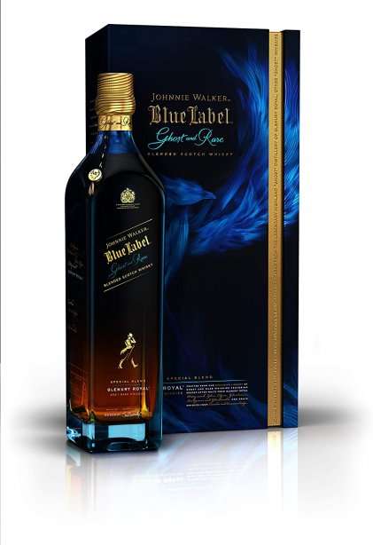 JW BLUE LABEL GHOST AND RARE Glenry Royal 75cl