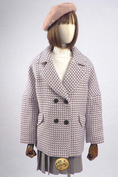 เช่าเสื้อโค้ทผู้หญิง รุ่น  Paisley Purple Houndstooth Pea Coat   902GCS272FAPPXL1