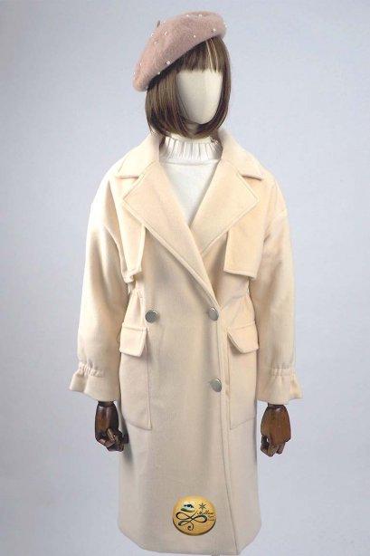 เช่าเสื้อโค้ทผู้หญิง รุ่น  Light Peach Swing Double Breasted Velvet Coat  902GCL296FACRL1