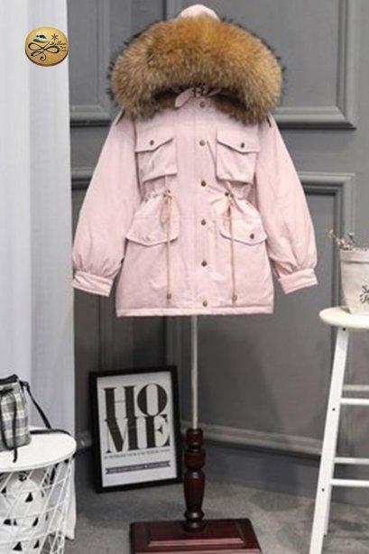 เช่าเสื้อขนเป็ดรุ่น  Bougainvillaea Fur Hooded Down Jacket0909GCL520DSPK6XL1
