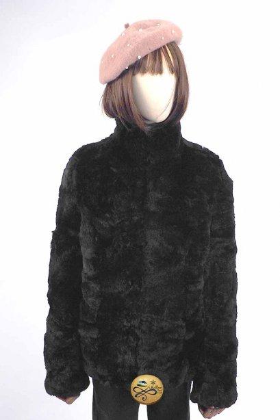 เช่าโค้ทเฟอร์  รุ่น Obsidian Fur faux Jacket  902GJF071YYBKM1