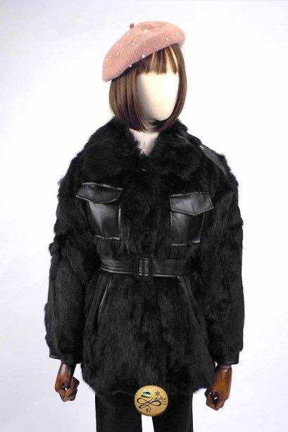 เช่าเสื้อกันหนาว รุ่น Rubbit Fur Jacket 0911GJF620FABKXL1
