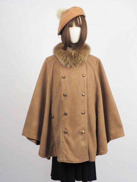 เช่าเสื้อโค้ทผู้หญิง รุ่น Pecan Brown Cape Coat2009GCL829FABR1