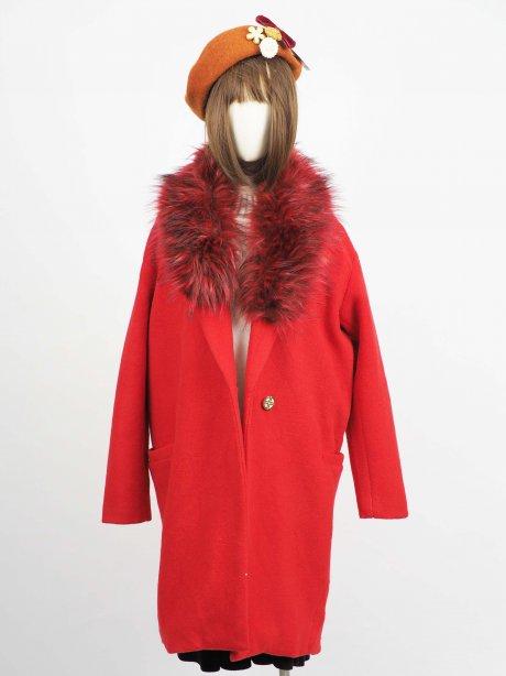 เช่าเสื้อโค้ทผู้หญิง รุ่น Savvy Red Car Coat2009GCL851FARE1