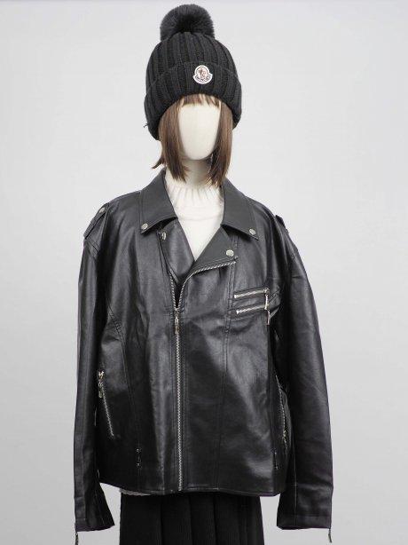 เช่าเสื้อโค้ทผู้หญิง รุ่น Raven Faux Leather Jacket2009G855FABK1