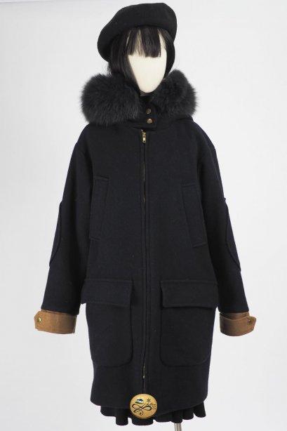 เช่าเสื้อโค้ทผู้หญิง รุ่น Fox Fur Hood Bunker Hill Blue Coat  2006GCL725FABL1