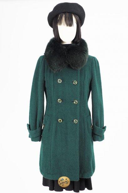 เช่าเสื้อโค้ทผู้หญิง รุ่น  Fox Fur collar Mermaid Tail Coat  2006GCL731FAGN1