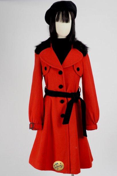 เช่าเสื้อโค้ทผู้หญิง รุ่น  Fur Collar Carmim Princess Coat  2006GCL790FARE1