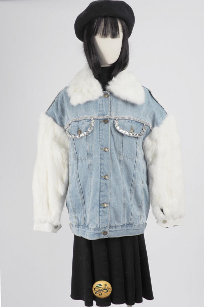 เช่าเสื้อโค้ทผู้หญิง รุ่น  Japanese Street Denim Jacket96GCS461FADNXL1