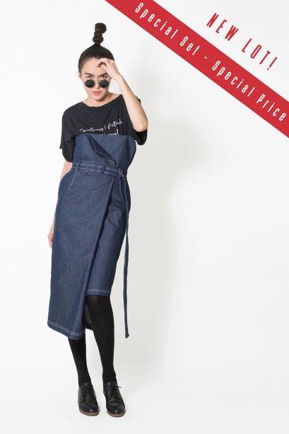 กระโปรงยีนส์ ทรงป้าย LUCCA Denim Skirt (Limited Edition) by WLS  **  NEW LOT  **