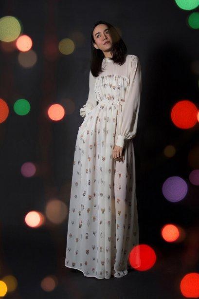 ปาร์ตี้แม็กซี่เดรส  Oversized See Through Party Maxi Dress Limited by WLS