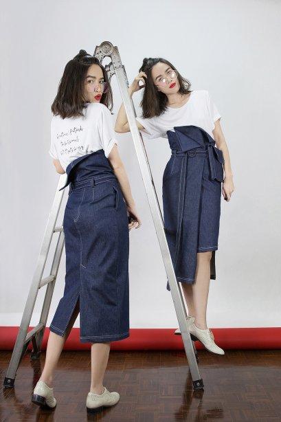 LUCCA Denim Skirt (Limited Edition) by WLS  ( ** รองานผลิตล็อตใหม่นะคะ ** )