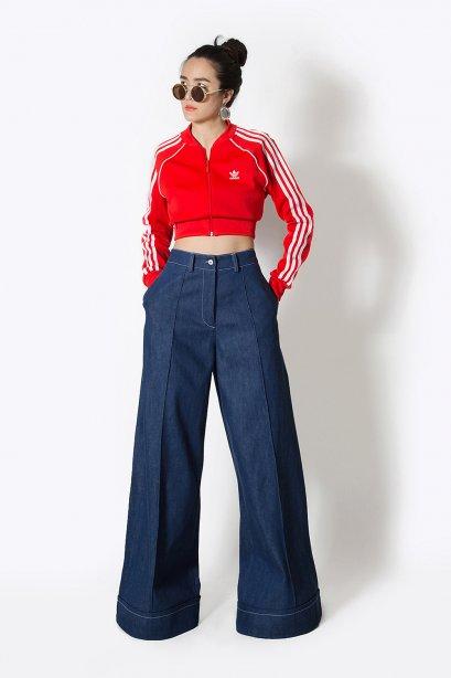 กางเกงยีนส์พรีเมียมขาบาน  NEW Super Wide Leg Denim Pants 2020 by WLS