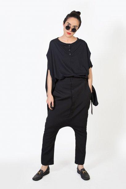กางเกงฮาเร็มทรง Unisex  Dapper Harem Pants (Charcoal Black)