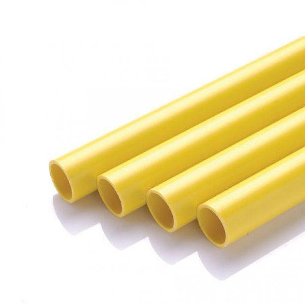 ท่อตรงพลาสติกร้อยสายไฟสีเหลือง Zeberg